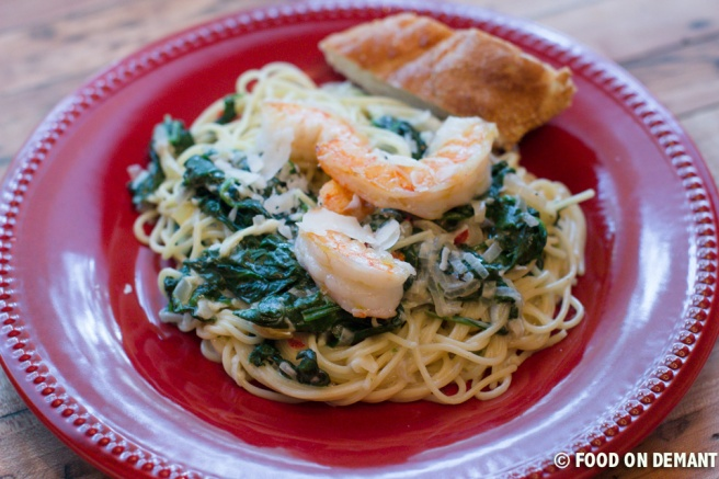 Shrimp and Spinach Pasta 11