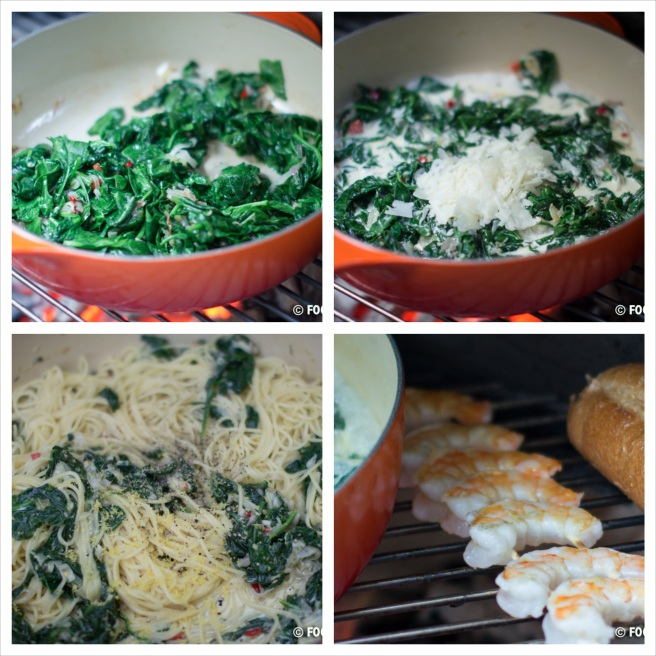 Shrimp and Spinach Pasta collage 2