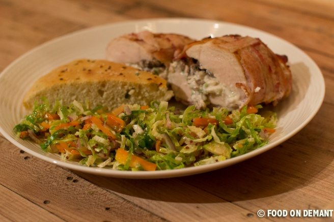Stuffed chicken with brussels sprouts salad (22 of 23)